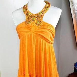 Orange anthropologie top